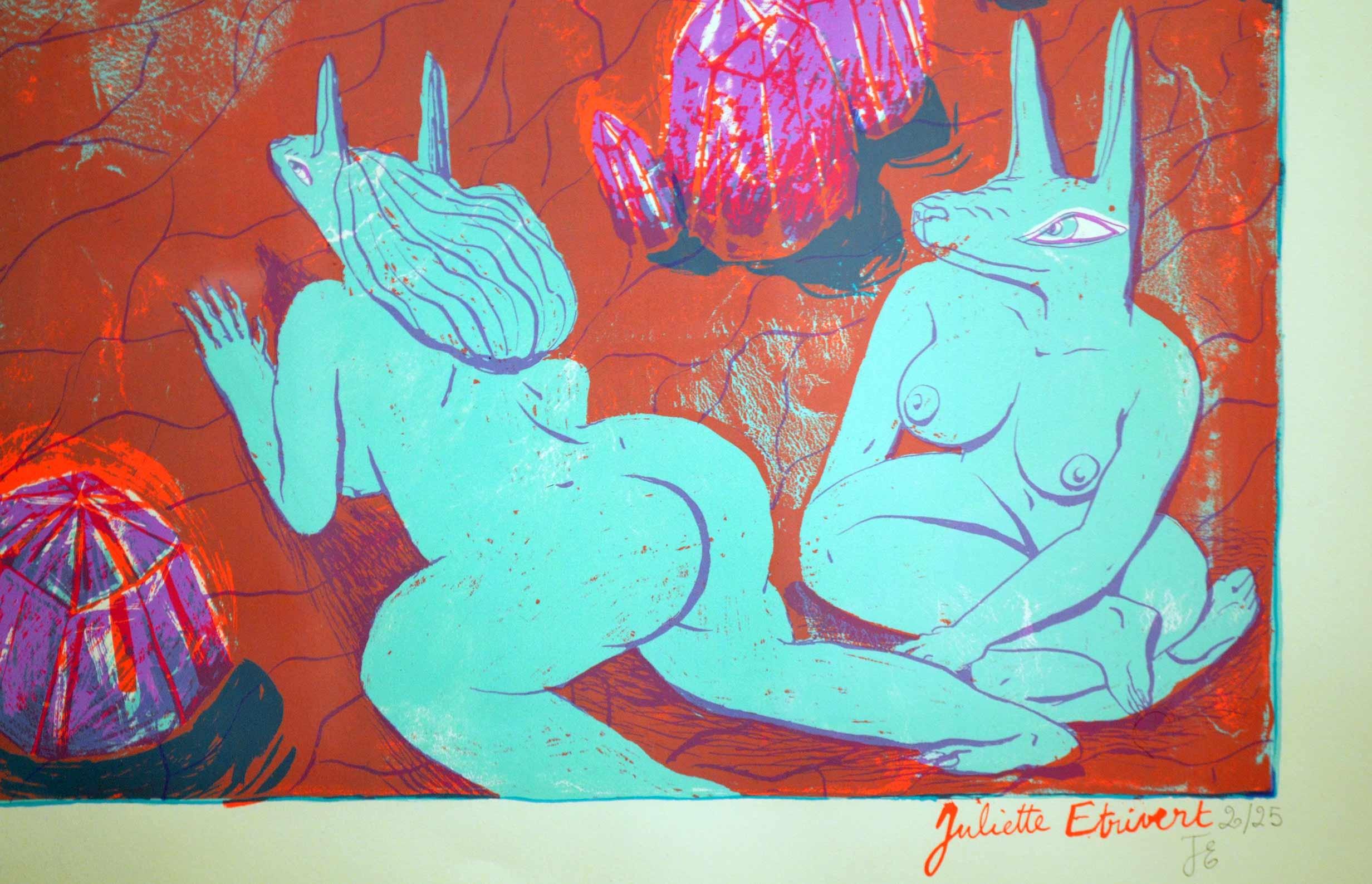 """Juliette Etrivert - Sérigraphie """"La lave"""""""