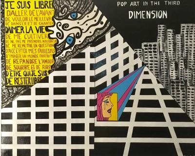 """Mura Fowski - Toile """"3ème dimension"""""""